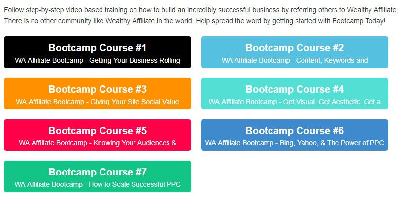 Wealthy Affiliate Bootcamp build a business online