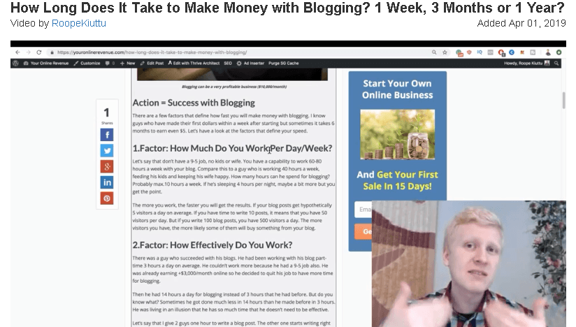 How Long To Make Money At Blogging