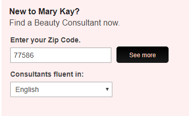 Mary Kay Zip Code Search