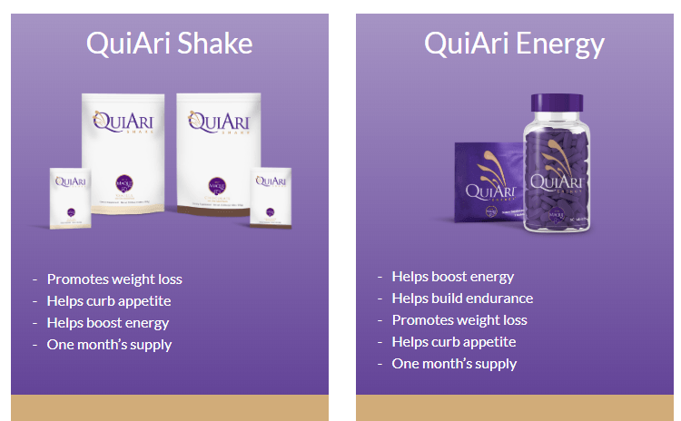 QuiAri MLM Review Products
